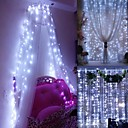 cheap 3D Duvet Covers-Window Curtain String Light,3 X 3m 300 LEDs Starry Fairy Lights for Wedding Party Home Garden Bedroom Outdoor Indoor Wall Decorations Warm White / Blue / Multi Color / White  Linkable 220-240 V 1pc