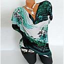 halpa Lasten loaferit-Naisten Puuvilla Painettu Geometrinen Pluskoko - T-paita Apila