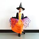 halpa Halloween- ja karnevaaliasut-noita Mekot Cosplay-Asut Lasten Tyttöjen Cosplay Halloween Halloween Karnevaali Masquerade Festivaali / loma Polyesteria Oranssi Karnevaalipuvut Patchwork