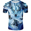 abordables Talkie-walkie-Tee-shirt Homme, Animal Col Arrondi Bleu XXL
