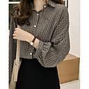 billige Reborn-dukker-Krave Løstsiddende Dame - Ensfarvet Bomuld, Patchwork Skjorte Blå XL