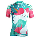 cheap Cycling Jerseys-ILPALADINO Women's Short Sleeve Cycling Jersey - Mineral Green Bike Jersey UV Resistant Sports 100% Polyester Triathlon Clothing Apparel