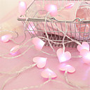 cheap Décor Lights-1 set LED String Light 20 Lights Girl Heart Walnut Heart Cloth Love Small Night Light Battery Box Lights