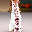رخيصةأون سټمپک-فستان نسائي A line أساسي طباعة طويل للأرض ورد