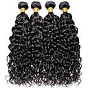 billige Parykker af ægte menneskerhår-4 pakker Indisk hår Vand Bølge 100% Remy Hair Weave Bundles Menneskehår, Bølget Bundle Hair Én Pack Solution 8-28inch Naturlig Farve Menneskehår Vævninger Nuttet Moderigtigt Design Gave Menneskehår
