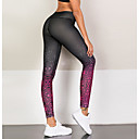 preiswerte Visors Kleidung-Damen Sportlich Legging - Geometrisch Mittlere Taillenlinie