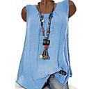povoljno Modne ogrlice-Majica s rukavima Žene Jednobojni Crn