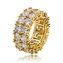ราคาถูก แหวนผู้ชาย-สำหรับผู้ชาย Cubic Zirconia คลาสสิค แหวน Stylish แหวนแฟชั่น เครื่องประดับ สีทอง / สีเงิน สำหรับ ปาร์ตี้ ทุกวัน 8 / 9 / 10 / 11 / 12