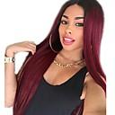 abordables Pelucas Sintéticas con Agarre-Pelucas sintéticas Rizado Estilo Parte media Sin Tapa Peluca Rojo Rojo oscuro Pelo sintético 22 pulgada Mujer Mujer Rojo Peluca Larga Peluca natural