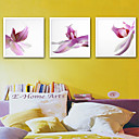 halpa Kehystetty taide-Kehystetty kanvaasi Kehystetty setti - Kasvitiede Kukkakuvio / Kasvitiede Muovi Illustration Wall Art
