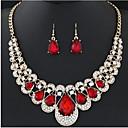 povoljno Komplet nakita-Žene Svadbeni nakit Setovi Ispustiti slatko Elegantno Naušnice Jewelry Crn / Crvena / Plava Za Vjenčanje Party 1set