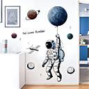 billige Vægklistermærker-kreativ teknologi fornemmelse plads planet astronaut mur klistermærker børneværelse sovesal soveværelse væg dekorationer klistermærker
