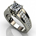 cheap Rings-Men's Women's Cubic Zirconia Classic Ring Joy Stylish Ring Jewelry White For Engagement Daily 6 / 7 / 8 / 9 / 10
