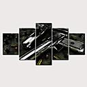 billige Tryk-Print Valset lærred Udskriv - Militær Moderne Klassisk Moderne Fem Paneler Kunsttryk