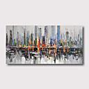 halpa Abstraktit maalaukset-Hang-Painted öljymaalaus Maalattu - Abstrakti Maisema Comtemporary Moderni Sisällytä Inner Frame / Venytetty kangas