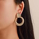 olcso Divat fülbevalók-Női Mértani Függők Fülbevaló Fülbevaló Egyszerű Európai Divat Modern Ékszerek Arany / Ezüst Kompatibilitás Farsang Utca Munka Bár Fesztivál 1 pár
