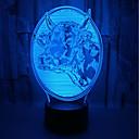 halpa Koristevalot-1kpl outo 3d yö valot karja värikäs 3d visio työpöytä lamppu energiansäästö silmähoito johti 3d valot pöytävalaisimet olohuoneeseen<5v