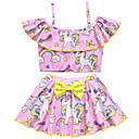hesapli Yüzme Cosplay-Mayo Mayo Cosplay Kostümleri Plaj kızı Çocuklar için Cosplay Kostümleri Cosplay Cadılar Bayramı AçıkMavi / Mor / Pembe Tek boynuzlu Resim Yılbaşı Cadılar Bayramı Karnaval / Top