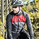 olcso Kerékpáros nadrágok, rövidnadrágok, shortok-SANTIC Férfi Kerékpáros kabát Bike Zakó Fényvisszaverő Szélbiztos Légáteresztő Sport Poliészter Spandex Háló Tél Fekete / vörös Hegyi biciklizés Országúti biciklizés Ruházat Haladó Kerékpáros ruházat