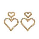 halpa Muotikaulakorut-Naisten Pisarakorvakorut Heart Tyylikäs Timanttijäljitelmä korvakorut Korut Kulta Käyttötarkoitus Häät Kihlaus 1 Pair