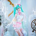 voordelige Gaming kostuums-geinspireerd door Cosplay Bunnymeisjes Anime Cosplaykostuums Cosplay Kostuums Patchwork Mouwloos Kraag / Mouwen / Handschoenen Voor Dames