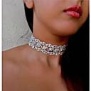 billige Mode Halskæde-Dame Kort halskæde Luksus Simuleret diamant Guld Sølv 30 cm Halskæder Smykker 1pc Til Bryllup Natklub