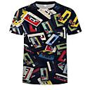 お買い得  iPhone 用ケース-男性用 プリント Tシャツ ラウンドネック 3D レインボー