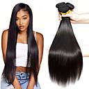 halpa Aitohiusperuukit-6 pakettia Malesialainen Suora Käsittelemätön aitoa hiusta Hiukset kutoo Bundle Hair Aitohiuspidennykset 8-28 inch Luonnollinen väri Hiukset kutoo Silkkinen Tulokas Paksu Hiukset Extensions Naisten
