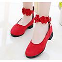 preiswerte Kleidersets für Mädchen-Mädchen Schuhe Wildleder Herbst Komfort / Tiny Heels für Teens High Heels für Kinder / Junior Schwarz / Rot