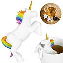 tanie Kawa i herbata-Jednorożec kształt sitka do zaparzania herbaty sitko z filtrem luźna herbata ziołowa