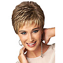 cheap Synthetic Capless Wigs-Synthetic Wig / Bangs Curly Style Free Part Capless Wig Golden Light golden Synthetic Hair 12 inch Women's Women / Synthetic / Color Gradient Golden Wig Short Natural Wigs