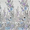 preiswerte Wedding Dress Fabric-Tüll Blumen Stickerei 125 cm Breite Stoff für Bekleidung und Mode verkauft bis zum Meter