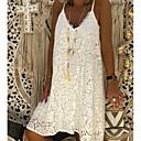 hesapli Göz Farları-Kadın's A Şekilli Elbise Askılı Diz-boyu