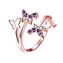 povoljno Prstenje-Žene Band Ring Prsten Prestenje knuckle ring 1pc Srebro Rose Gold Platinum Plated Pozlata od crvenog zlata Imitacija dijamanta Stilski Jednostavan Europska Vjenčanje Dar Jewelry Rukav leptir / Dnevno