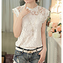 cheap Party Headpieces-2019 New Arrival Blouses Women's Blouse - Solid Colored Lace White L Blusas Mujer Chemise Femme