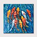 זול ציורים מופשטים-ציור שמן, צבוע, בעל חיים, ק.י.י., בריכה Foto תקציר, בד, אומנות, התגלגל, בד