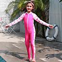 halpa Märkäpuvut, sukelluspuvut ja suoja-asut-JIAAO Poikien Tyttöjen Skin-tyyppinen märkäpuku Sukelluspuvut Nopea kuivuminen Pitkähihainen Etuvetoketju - Uinti Sukellus Vesiurheilu Patchwork Syksy Kevät Kesä / Erittäin elastinen / Lasten