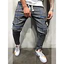 hesapli Erkek Sneakerları-Erkek Sportif / Actif / Temel Harem / Eşoğman Altı Pantolon - Ekoseli / Damalı Klasik Havuz YAKUT Sarı XL XXL XXXL / Büzgülü