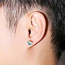 olcso Férfi karkötők-Férfi Női Díszes Beszúrós fülbevalók meleg fülbevaló Rozsdamentes acél Fülbevaló divatba jövő Ékszerek Ezüst Kompatibilitás Esküvő Eljegyzés Farsang Utca Klub 1 pár