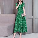 abordables Ropa para Baile de Salón-Mujer Básico Vaina Vestido Geométrico Maxi