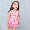 זול אביזרי אדים-JIAAO בנות בגד ים בגדי ים ייבוש מהיר ללא שרוולים שחייה ספורט מים ציור קיץ / גמישות גבוהה / בגדי ריקוד ילדים
