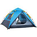 זול אוהלים וסככות-4 איש משפחה אוהל קמפינג חיצוני עמיד מוגן מגשם נשימה שכבה בודדה עמוד קמפינג אוהל 2000-3000 mm ל דיג טיפוס מחנאות / צעידות / טיולי מערות polyster 215*215*155 cm