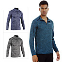 cheap Hiking Trousers & Shorts-Men's Compression Shirt Long Sleeve Compression Base layer T Shirt Top Breathable Quick Dry Sweat-wicking Comfortable Blue Violet Grey Polyester Winter Road Bike Mountain Bike MTB Basketball Stretchy