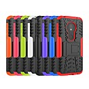 お買い得  携帯電話ケース-ケース 用途 Motorola Moto Z3 Play / モトZ4プレイ / Moto X4 耐衝撃 / スタンド付き バックカバー 鎧 ハード PC