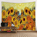 billige Wall Tapestries-Have Tema / Blomster Tema Vægdekor 100% Polyester Moderne Vægkunst, Wall Gobeliner Dekoration