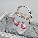 halpa Crossbody-laukut-Naisten PU Olkalaukku Eläin Musta / Punastuvan vaaleanpunainen