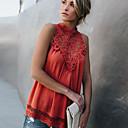 Χαμηλού Κόστους Μοδάτο Δαχτυλίδι-Γυναικεία T-shirt Μονόχρωμο Πράσινο του τριφυλλιού L