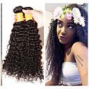 voordelige Weaves van echt haar-3 bundels Braziliaans haar Kinky Curly Onbehandeld haar Menselijk haar weeft Bundle Hair Extentions van mensenhaar 8-28 inch Natuurlijke Kleur Menselijk haar weeft Geurvrij nieuwe collectie Dik