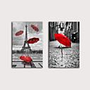 halpa Tulosteet-Painettu Valssatut kangasjulisteet Pingoitetut kanvasprintit - Maisema Arkkitehtuuri Moderni Art Prints