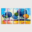 povoljno Apstraktno slikarstvo-Hang oslikana uljanim bojama Ručno oslikana - Sažetak Moderna Uključi Unutarnji okvir / Pet ploha